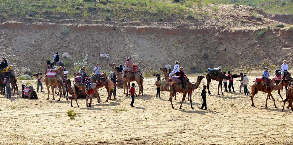 <strong>Pushkar Camel Fair</strong> - An Easy Tours Safari Explores the Fairgrounds