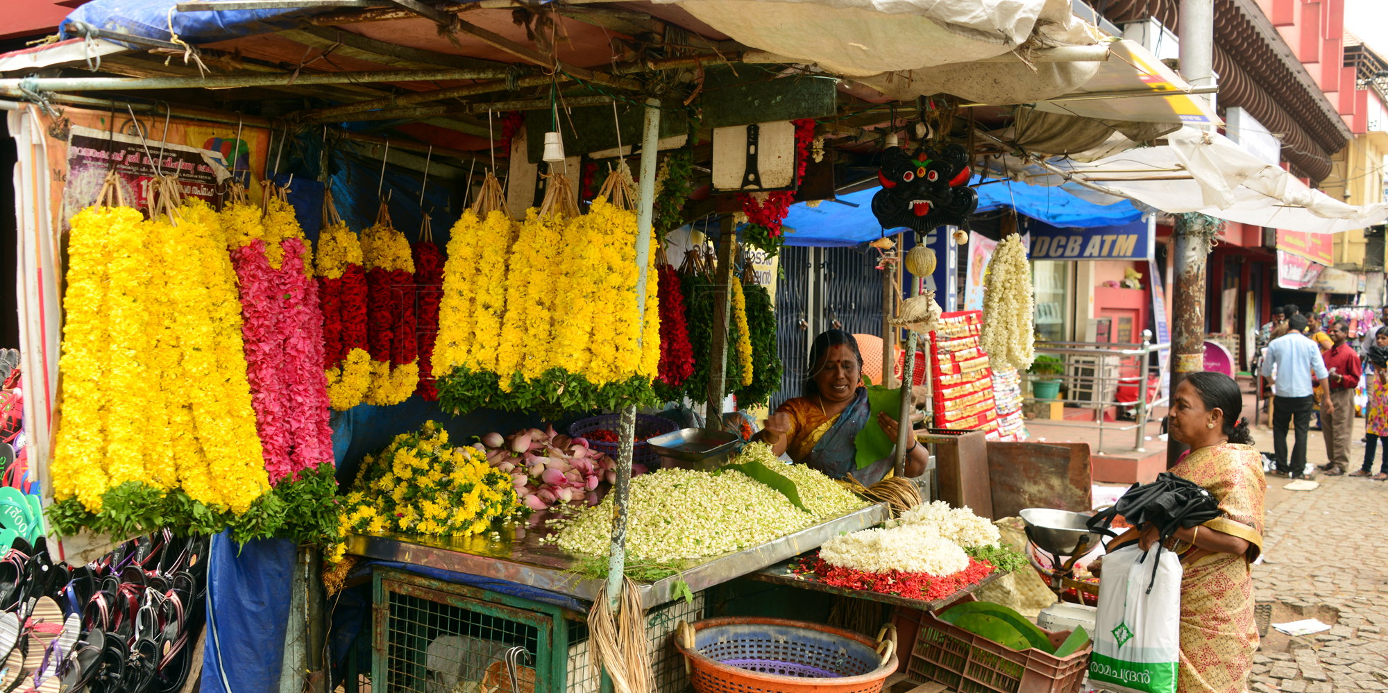 <strong>Flower Seller at the Temple entrance</strong> -