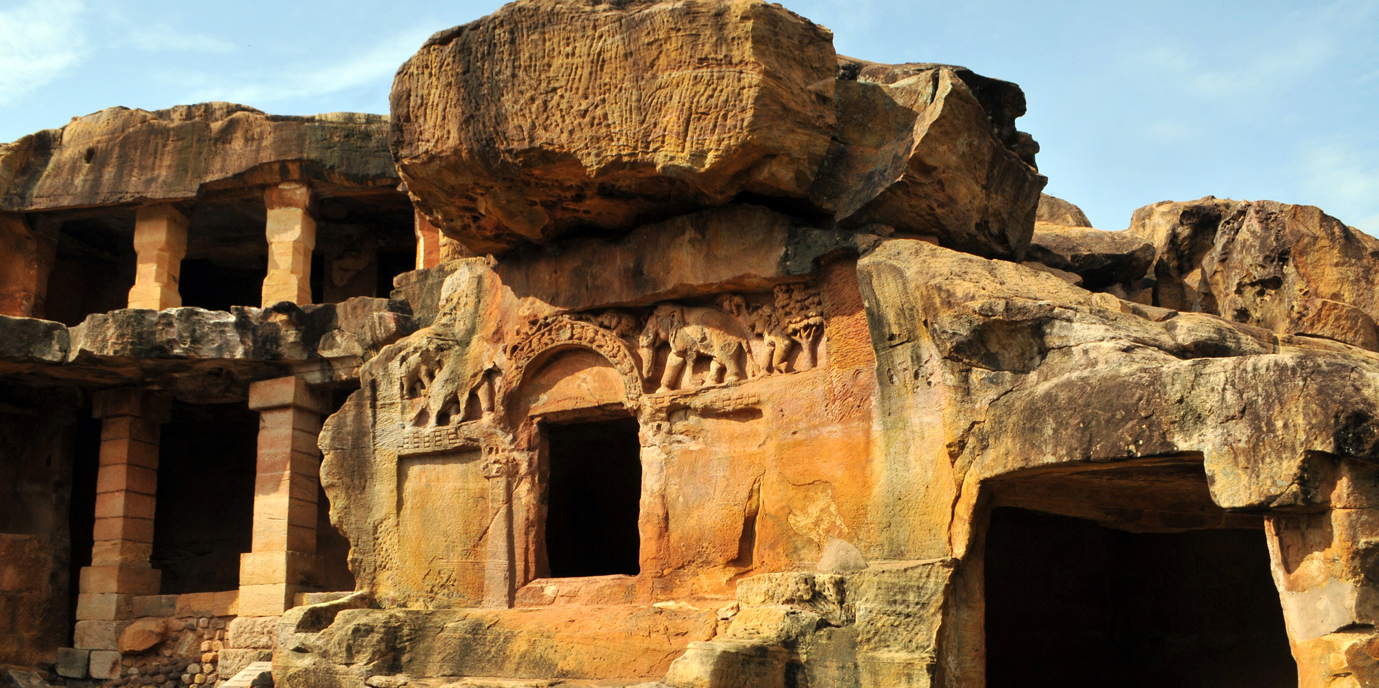<strong>Udayagiri and Khandagiri Caves - 1, Bhubaneswar</strong> -