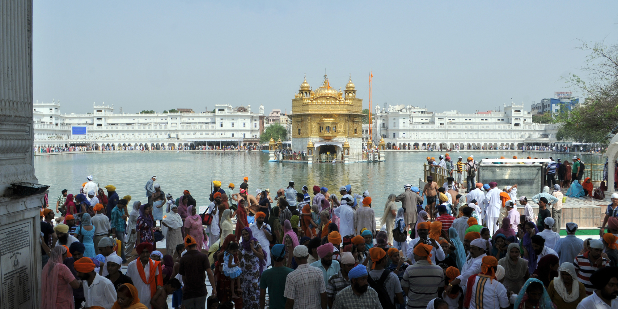 <strong>Golden Temple, Amristar</strong> - The Harmandir Sahib(The abode of God),informally known as the The Golden Temple.
