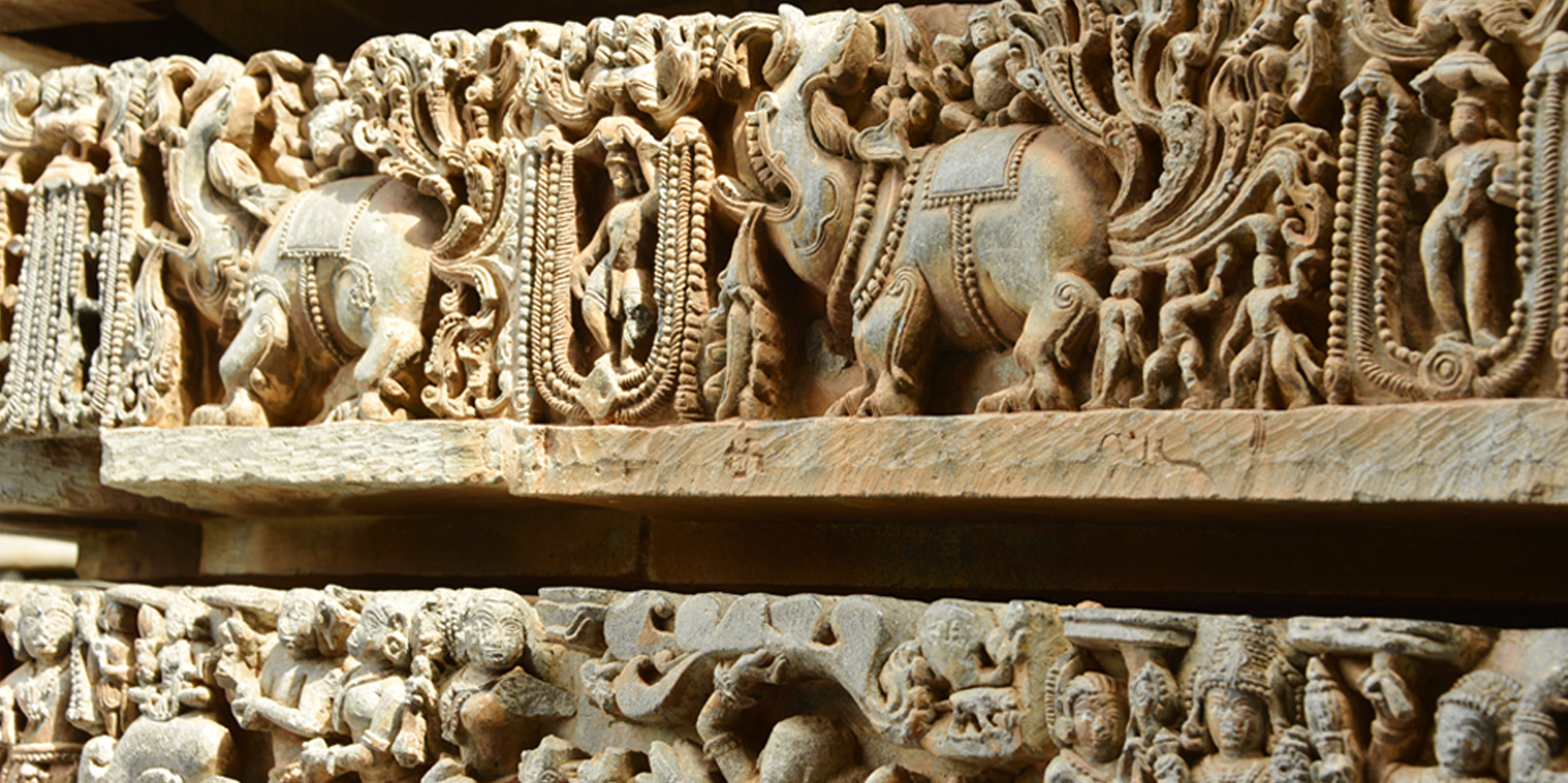 <strong>Detail of a small part of the Belur Temple - 2</strong> -