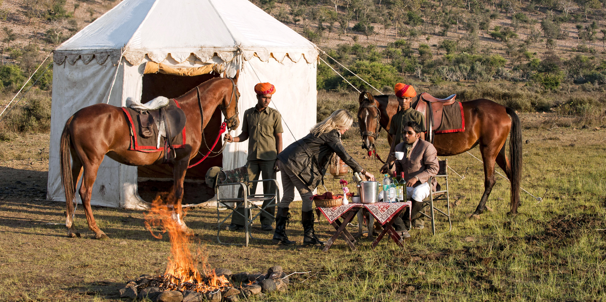 <strong>Morning at a Camp during ride, Bijaipur </strong> -