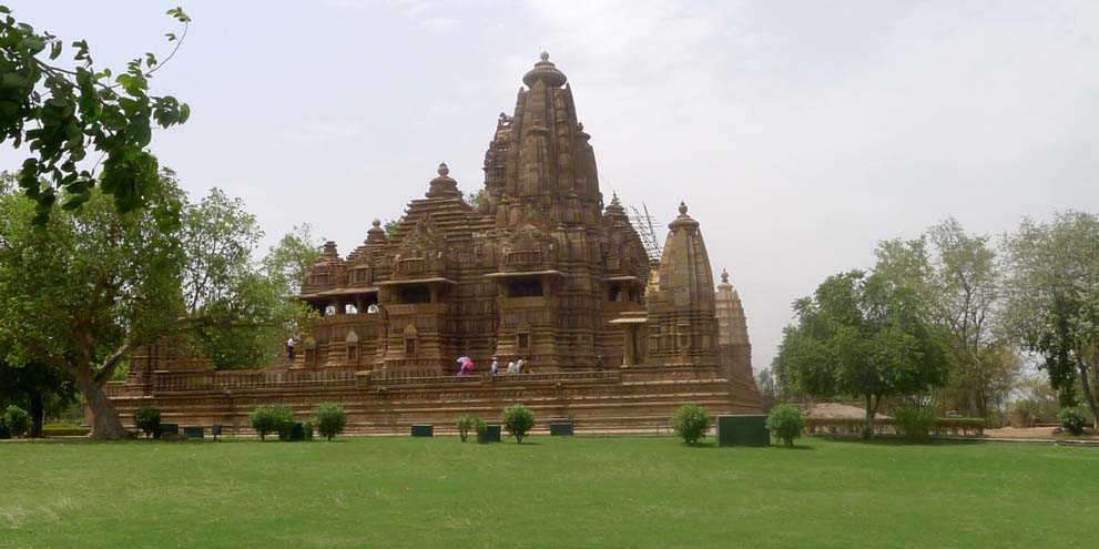 <strong>Khajuraho</strong> - The Khajuraho Group of Monuments in Khajuraho, a town in the Indian state of Madhya Pradesh, located in Chhatarpur District, about 620 kilometres southeast of New Delhi, is one of the most popular tourist destinations in India.