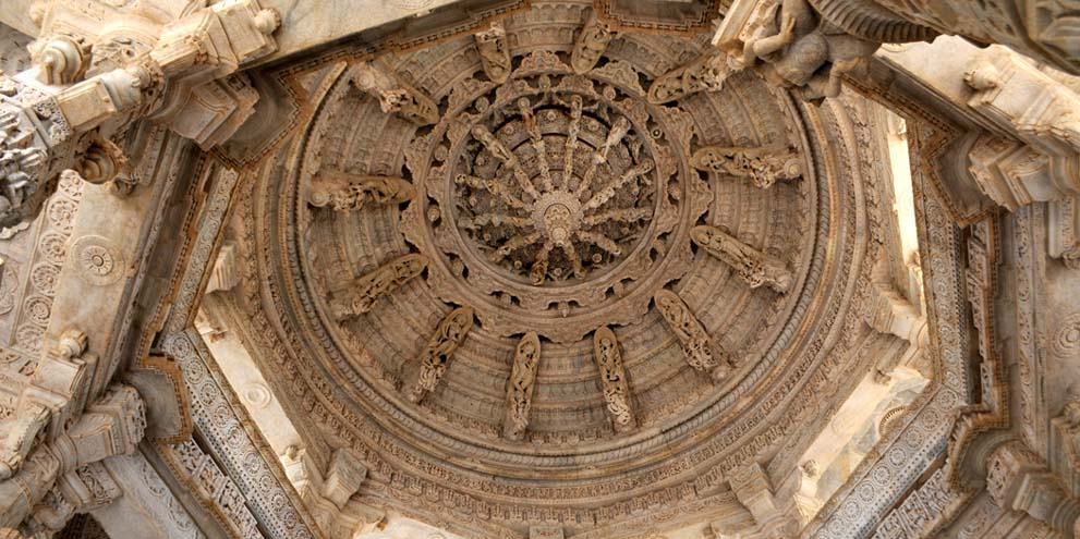 <strong>Ranakpur - 2</strong> - Ceiling inside the large Jain temple at Rankpur, Rajastan, India.