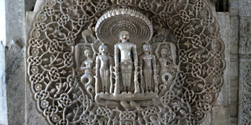 <strong>Ranakpur - 3</strong> - Jain Marble Temple wall Frescoes, Ranakpur, Pali district, India