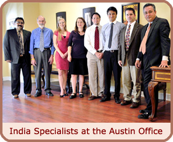 India Specialists at the Austin Office
