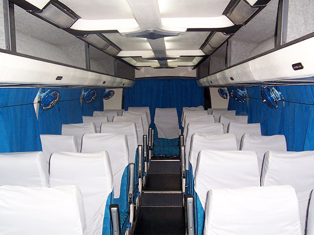 Luxury Coach - DLX. 3 Seater Coach inside