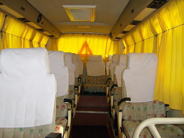 DLX. Tempo Traveller inside