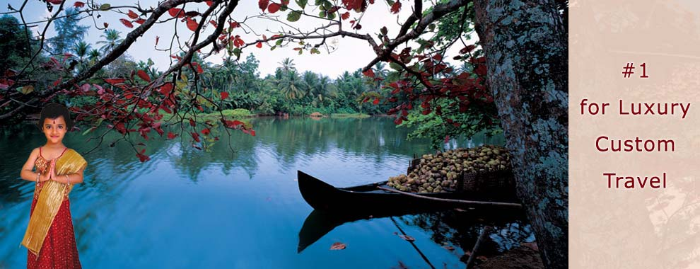 Backwater in Kerala, India