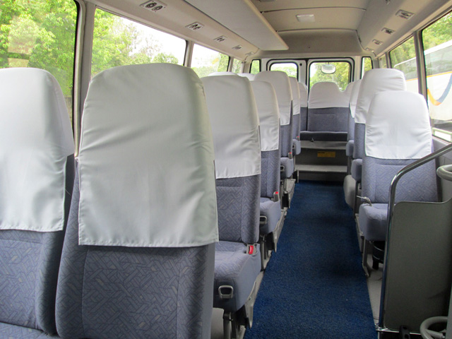 Luxury Mini Coach - Toyota Coaster Interior
