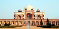 Humayun Tomb, Delhi - Humayun's Tomb - The square red sandstone double-storeyed structure.