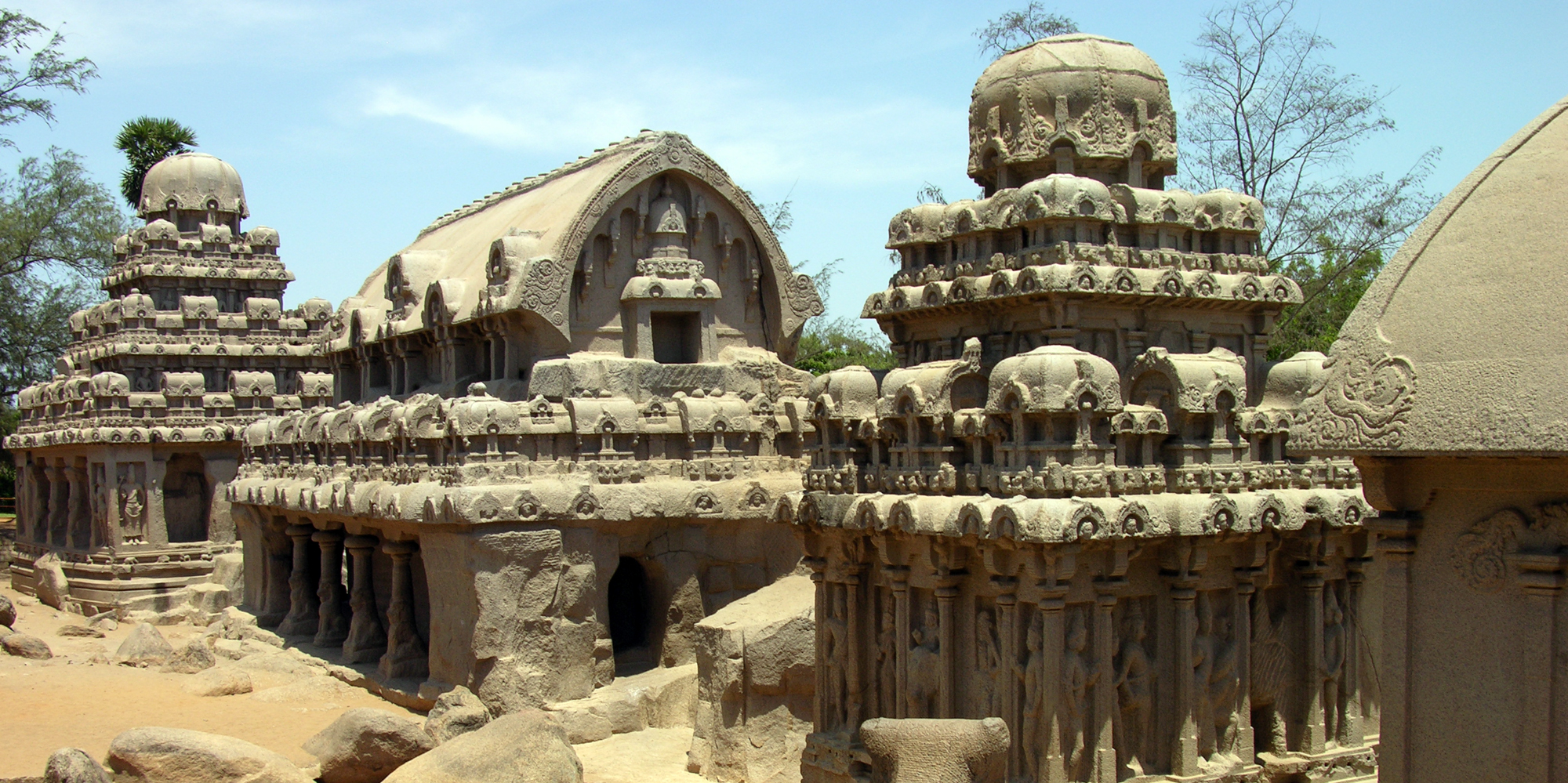 <strong>The five rathas -1, Mahabalipuram</strong> -