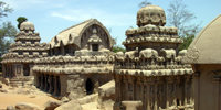The five rathas -1, Mahabalipuram -