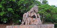 An stone art work in Sun temple - 1, Konark - Konark